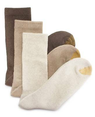 $40 GOLD TOE Men 3-Pair Pack BROWN CASUAL CUSHIONED COTTON CREW SOCKS Size 6-12