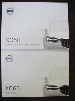 Original VolvoXC60 Betriebsanleitung & Quick Guide deutsch Mj.2018 TP24674