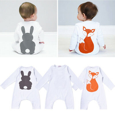 Baby Cotton Romper Baby Jumpsuit Baby Girls Boys Clothes with Anmial Printing