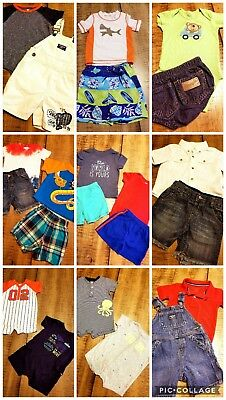 Lot of 26 Pc Boys Summer Clothes Outfits Sz 12M