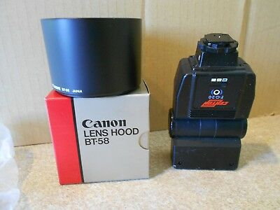 Cannon Bt-58 Lens Hood & Centon F-G-2-0 Electronic Flash