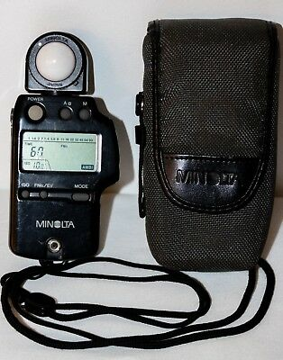 Minolta Auto Meter IV-F Ambient/Flash Light Meter With Case