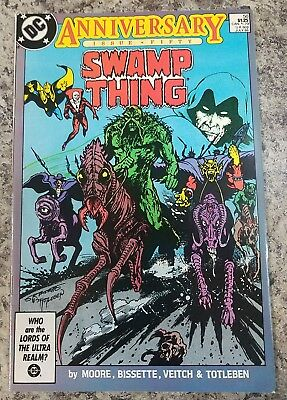 Dc Comics Swamp Thing  Anniversary Issue Fifty #50 July 1986 Great Condition!!!