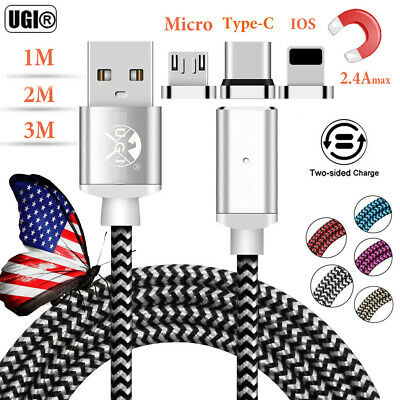 UGI Magnetic USB Fast Charger Charging Cable For iPhone Micro Samsung Type-C US