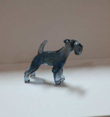 Art Blown Glass Murano Figurine Glass Kerry Blue Terrier