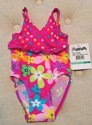 Nwt Flapdoodles Toddler Girls 1Pc Swimsuit - Floral - Size 18 Months