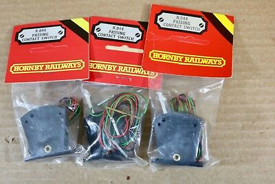 HORNBY R044 SET of 3 PASSING CONTACT SWITCH for ELECTRIC POINTS np