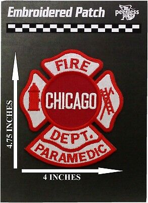 Chicago Fire Department Paramedic Patch 4.75 x 4