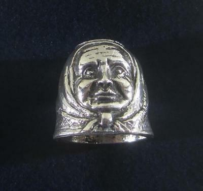 """Thimble """" Woman"""". Solid silver 800."""