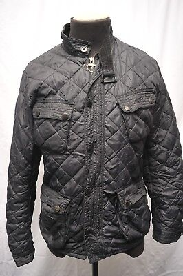 Rare Limited Edition Barbour To Ki To Motor Cycling Quilt Black Xl (Medium) Fy97