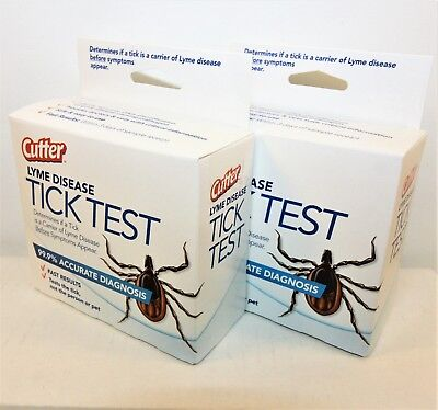 2-PACK    LYME DISEASE TICK TEST by CUTTER