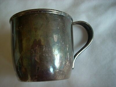 """VTG. SILVERPLATE BABY CUP """"WOOD SONG"""" DEEP SILVER HOLMES AND EDWARDS 1930's"""