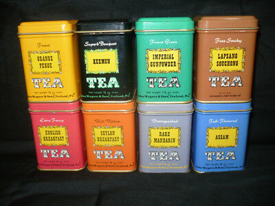 Vintage John Wagner and Sons Mini Tea Canisters (Set of 8) 7/8 oz