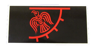 Wholesale Lot of 6 Viking Raven Nordic Red Black Decal Bumper Sticker
