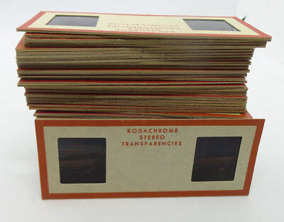 60 Kodachrome Stereo Transparencies Slides 1950's Japanese American Family