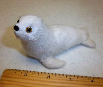 Furry friends collection, 4 inch long Cute Fur Seal! adorable white seal