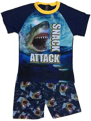 MacHenry Originals Shark Snack Attack Short Pajamas for Boys