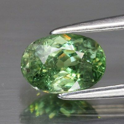 1.00ct 7x5mm Oval Natural Green Demantoid Garnet, Madagascar