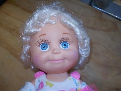 Vintage~Galoob Baby Face~So Sweet Sandi~Blonde Hair Blue Eyes Doll~1990~Clothes