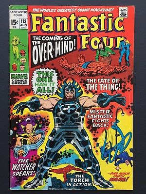 """Fantastic Four #113 August 1971 FN John Buscema """"COMING OF THE OVER-MIND!"""""""