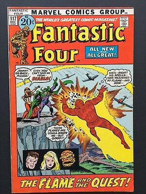 """Fantastic Four #117 December 1971 FN/VF John Buscema """"FLAME AND QUEST!"""""""
