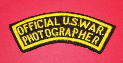 Original Post Ww2 German Made Hand Embroidered U.s. War Photographer Patch!