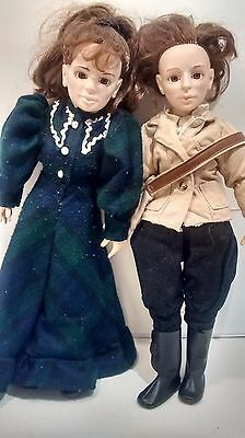 Vintage Lot of 2 Dolls Les Filles De Caleb Emilie & Blanche TV Series