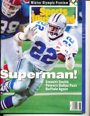 6be4bd1e306 Feb 7 1994 Emmitt Smith Cowboys no label Sports Illustrated SI83-09