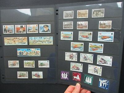 ESTATE: Isle of Man Collection on pages, Part 4, HEAPS - great item (1450)