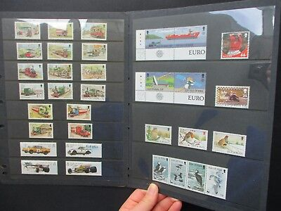 ESTATE: Isle of Man Collection on pages, Part 5, HEAPS - great item (1451)