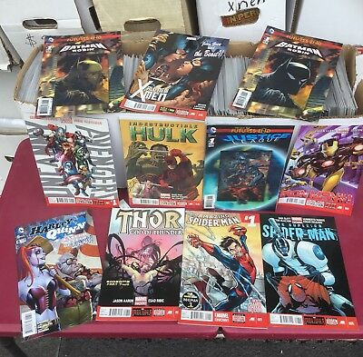 Huge lot of 300 comics all are marvel and D.C. Comics nice collection