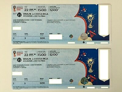 Tickets & Experiences > Sports Tickets > World Cup 2018 > BRAZIL vs COSTA RICA