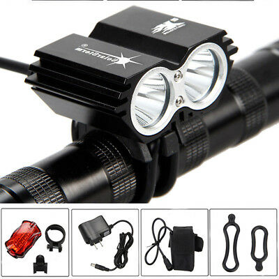 Bicycle Front Lights Rechargeable Mountain Bike Headlight Rear Lamp Waterproof