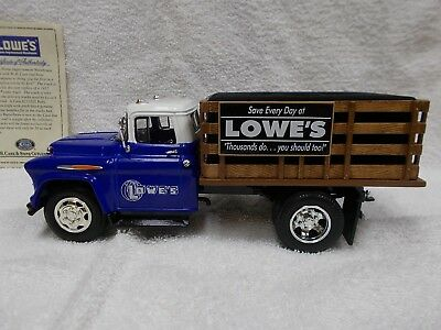 Lowes 1957 Chevy Stake Truck with Case 2 Blade Knife With Box Butter Bean Pocket