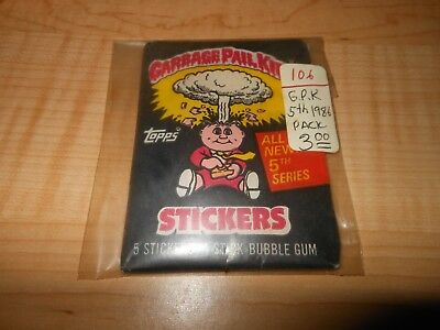 1986 Topps GARBAGE PAIL KIDS 5th Series Unopened Pack GPK stickers gum