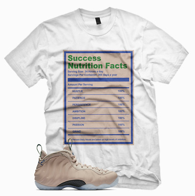 89512288e37 SUCCESS FACTS T Shirt for Nike Foamposite Particle Beige T Shirt Elemental  Rose