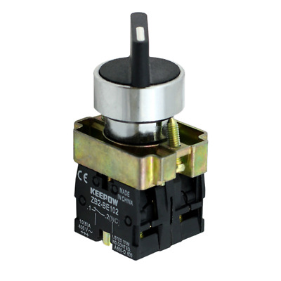 22mm Panel Mount 2 Position ON/OFF Switch 10Amp 400V 1 x NO + 1 x NC