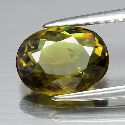 1.86ct 9.4x7mm Oval Natural Greenish Yellow Demantoid Garnet, Madagascar