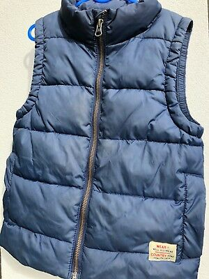 COUNTRY ROAD Designer Boys Blue Puffer Puffa Vest Sz 6-7