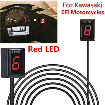 Motorcycle Gear Indicator Red LED for Kawasaki EFI Ninja 300 650 Versys 650 1000