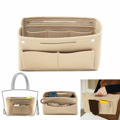 Women's Handbag Organizer Bag Purse Insert Bag Felt MultiPocket Tote Useful Bag