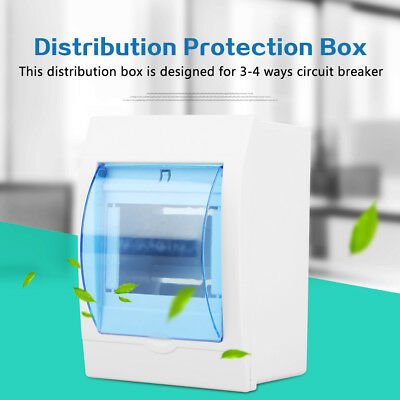 Plastic Distribution Protection Box for 3-4 Way Circuit Breaker Surface Mounting