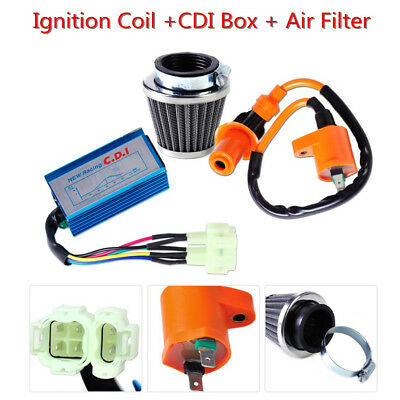 Racing Ignition Coil+CDI+Air Filter Kit Fit For GY6 50-150cc Scooter ATV Go Kart