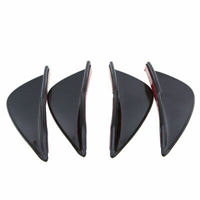 4pcs Gloss Black Car/Auto Front Bumper Fins Diffuser Canards Splitters Kits