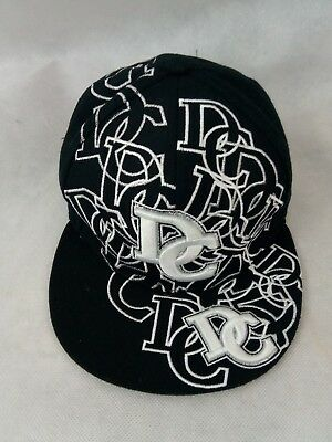 765805ee WASHINGTON DC City Hunter Black Fitted BASEBALL CAP HAT Size Small d.c.