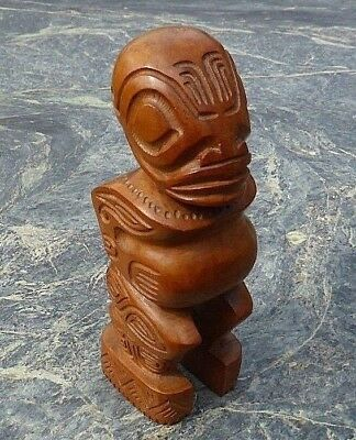Fine South Pacific Oceanic Polynesian Marquesas Islands Wooden Standing Tiki Fig