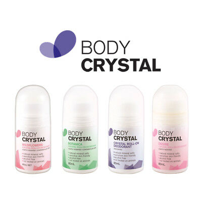 The Body Crystal Body Roll-On Deodorant Roll On Alcohol & Aluminum-Free 80ml