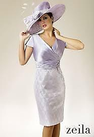 Zeila mother of the bride/ groom dress and jacket size 12 BNWT Silver and lilac
