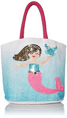 Mud Pie Mermaid Collection Ombre Beach Bag in Blue