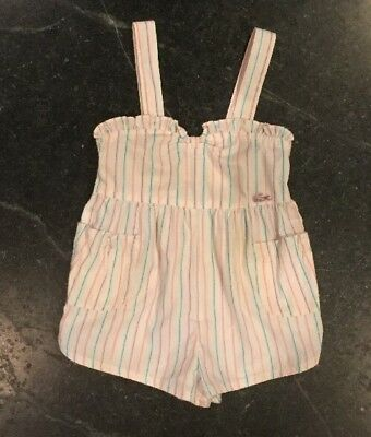 Izod Lacoste Baby Girl Toddler Size 3T Vintage Romper, One piece  Alligator